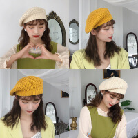 帽子女冬季新款贝雷帽针织毛线蓓蕾画家帽秋天复古英伦日系韩版潮