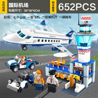 积木legao玩具男孩子拼装力拼插飞机6系列7大型8客机10岁