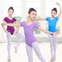 儿童舞蹈服练功服女童短袖连体服考级民族舞中国舞服装夏季