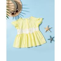 巴拉巴拉童装女童短袖衬衫儿童衬衣中大童新款夏装宽松纯棉潮