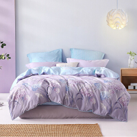 【双12年终狂欢 限时直降】水星家纺 全棉印花床上四件套纯棉学生宿舍床上用品 繁花梦语