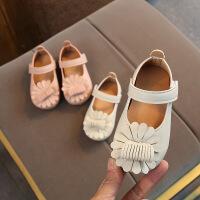 宝宝软底防滑学步鞋女宝宝花朵小皮鞋童鞋