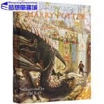 彩绘版第四部 哈利波特与火焰杯 精装全彩插图版英文原版 Harry Potter and the Goblet of