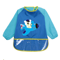 婴儿童罩衣童防水反穿衣男女宝宝吃饭衣长袖幼儿园饭衣系带画画衣