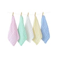 婴儿口水巾儿童宝宝洗脸小方巾婴儿用品棉纱布毛巾