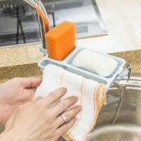 肥皂架 多用途厨房浴室水龙头沥水置物架肥皂皂盒架抹布挂架挂钩收纳架子