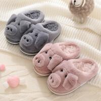 儿童包跟棉拖鞋女男秋冬季保暖加厚可爱室内卡通保暖小孩宝宝2岁1