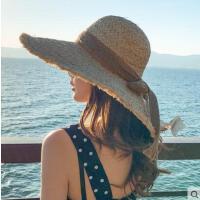 ins网红同款时尚新品名媛大沿拉菲草帽时尚气质大檐海边度假沙滩帽遮阳防晒帽