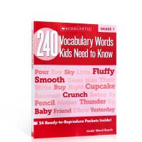 【发顺丰】英文原版学乐出版练习册 240 Vocabulary Words Kids Need to Know, Gr