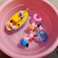 佩琪粉红猪小妹洗澡过家家航海玩具佩琪四口佩佩猪爷爷海盗船玩具