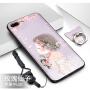 iPhone7plus手机套 iphone8plus保护壳 苹果7p/8p保护套 日韩个性创意硅胶彩绘挂绳软壳