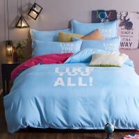 凯瑞  高支高密 斜纹磨毛印花四件套 1.5/1.8米床 床品件套 四件套 被套 床单 被罩 枕套