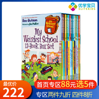 【满300-100】疯狂学校第四季12册盒装 英文原版 My Weirdest School 美国小学推荐读物初级章节桥