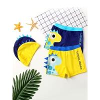 儿童泳裤男童平角泳衣游泳衣带帽宝宝泳衣男孩分体泳装