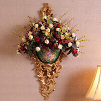 欧式壁挂壁饰花瓶墙上创意挂壁树脂挂饰家装饰品家居墙壁复古挂件
