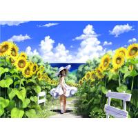 成人1000片木质拼图定制500卡通动漫画唯美风景 花间少女