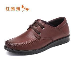 红蜻蜓男鞋商务休闲皮鞋秋冬鞋子男WTA7488