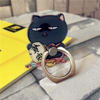 招财猫可爱创意手机支架粘贴式指环扣 iPhoneX通用苹果7/8个性拉环