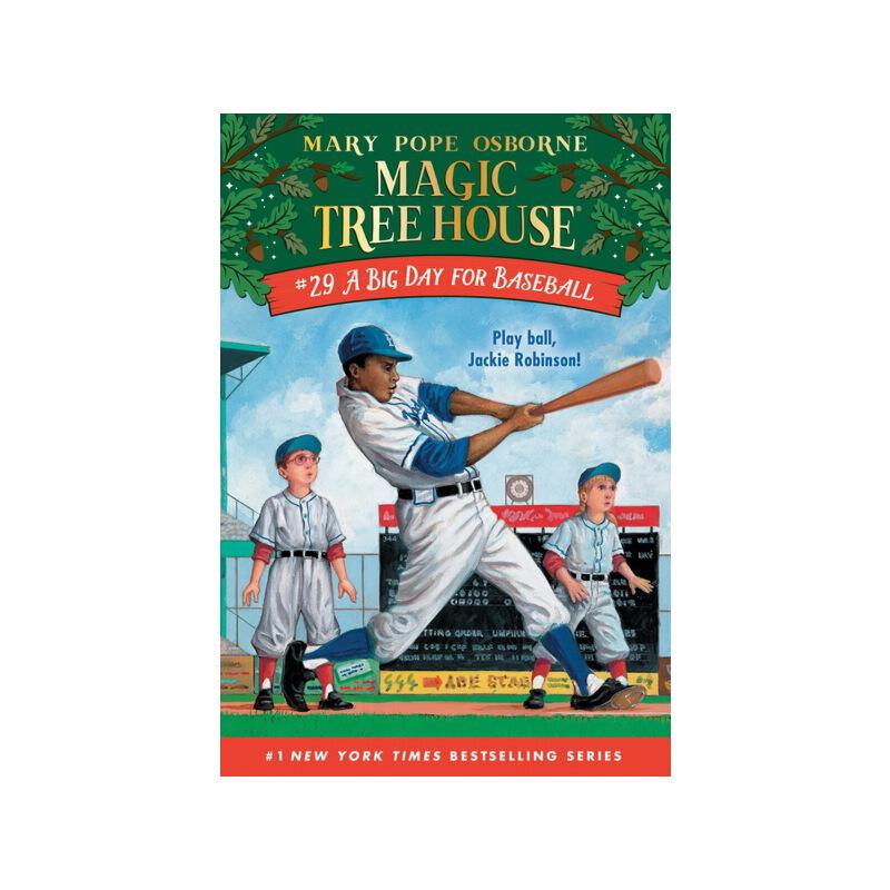 英文原版 The Magic Tree House 神奇树屋 29 Big Day For Baseball 学生课外读物儿童桥梁章节书