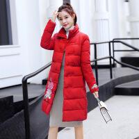 秋冬天民族风旗袍刺绣棉衣外套女士小个子棉袄棉袍大衣。