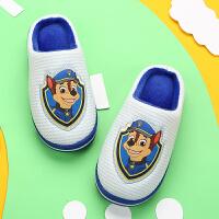 儿童棉拖鞋男童宝宝拖鞋秋冬室内女童棉拖中大童防滑小孩子