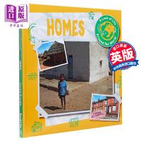 【中商原版】A Look at Life Around the World:Homes社会课看看世界各地的生活房屋 儿童