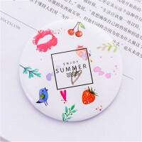 韩国小清新圆形随身化妆镜 迷你便携卡通小镜子 女生可爱随身镜