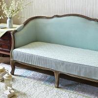 美式欧式北欧沙发垫沙发罩布艺坐垫棉麻防滑沙发套扶手巾q