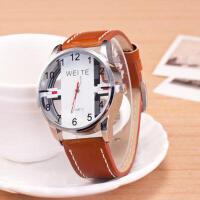 韩版时尚潮流创意手表 男士手表 镂空学生手表 男士运动真皮手表