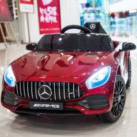 儿童电动车四轮跑车遥控汽车可坐宝宝童车小孩玩具车可坐人 奔驰GT【烤漆红】全功能+皮座 五点式安全带