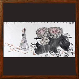 《踏秋图》陈少林 中国美协会员,新疆美协国画艺委会委员ML3991HOO