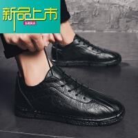 新品上市男鞋子春季英伦潮男小皮鞋韩版潮鞋百搭豆豆休闲男士19新款