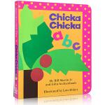 英文原版 Chicka Chicka ABC 附赠摇铃 廖彩杏推荐 字母韵文认知学习 儿童入门启蒙纸板书 0-5岁孩子