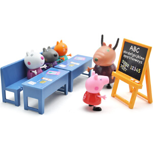 Peppa Pig 小猪佩奇 儿童男女孩过家家益智玩具仿真教室套装