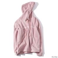 金丝绒卫衣女冬加绒加厚双面绒2018新款韩版粉色连帽cec宽松外套