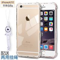 iphone6手�C�ぬO果6s�6/7/8plus硅�z套透明i6防摔8全包plus新潮男女6splus