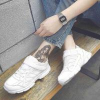 鞋子女2018百搭韩版学生秋冬季加棉运动鞋加绒保暖棉鞋小白鞋 白 色