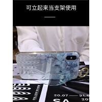 苹果x手机壳女新款iphoneXR全包防摔8plus超薄硅胶透明花7p法式复古6s创意腕带Xsmax软保护套XMax
