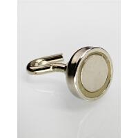 强力磁铁吸铁石强磁铁挂钩 磁铁强磁圆形磁性挂钩直径25mm
