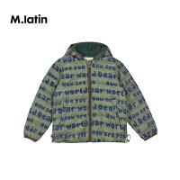 【2件88/3件8折后到手价:311.2元】马拉丁童装男大童羽绒服冬装新款洋气图案短款羽绒夹克外套
