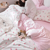 小清新全棉床上四件套公主风双人单人纯棉三件套被套床单床品套件