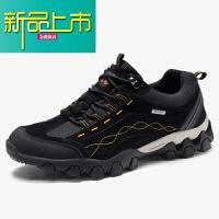 新品上市冬季登山鞋男士真皮�敉庑蓍e鞋防水防滑旅游鞋耐磨徒步�\�有�男鞋