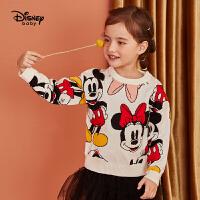 【限�r秒��r:75元】迪士尼女童加厚毛衣2020秋冬新款�����和��r尚洋�獯竺啄萆弦鲁�