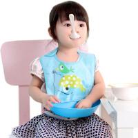 宝宝吃饭衣饭兜加大号塑料孩子宝贝辅食防水儿童喂饭衣兜口水围兜