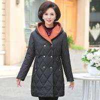 中年妈妈装冬装棉衣洋气加厚外套中老年女冬季中长款气质羽绒