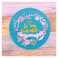 锦绣花环相薄拍立得相片影集 宝宝儿童成长记录情侣恋爱纪念 青色 valentine