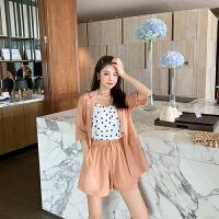 卡贝琳女气质名媛小香风西装套装夏天薄洋气时尚显瘦短裤两件套女2019新款套裤女