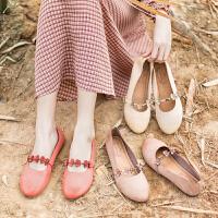 玛菲玛图软皮鞋女2020春季新品文艺复古擦色做旧原创真皮平底chic玛丽珍鞋1859-7W