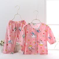 夏季儿童睡衣棉绸家居服男童小童装宝宝绵绸薄款长袖幼童女套装