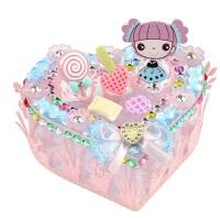 创意礼物盒儿童手工diy粘贴制作首饰盒材料亲子早教玩具 66904 糖果女孩